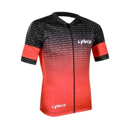 Camisa Ciclismo Lynce Red Rectangle Lines