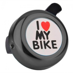 Campainha I Love My Bike Preto