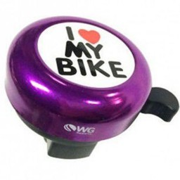 Campainha I Love My Bike Roxo